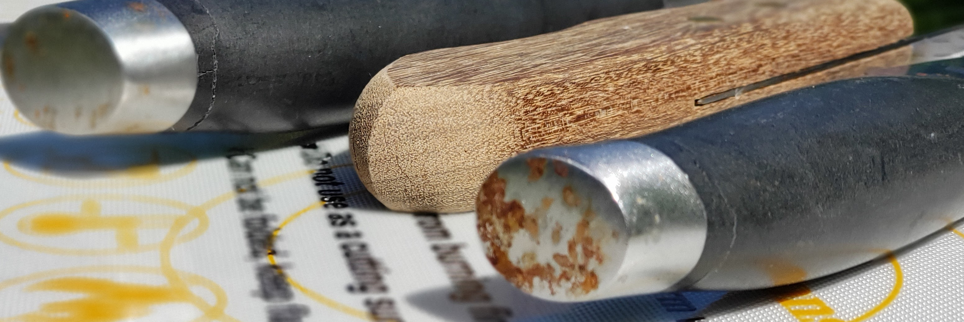 rusty knife handles