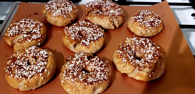 yummy pumpkin pie spice bagels