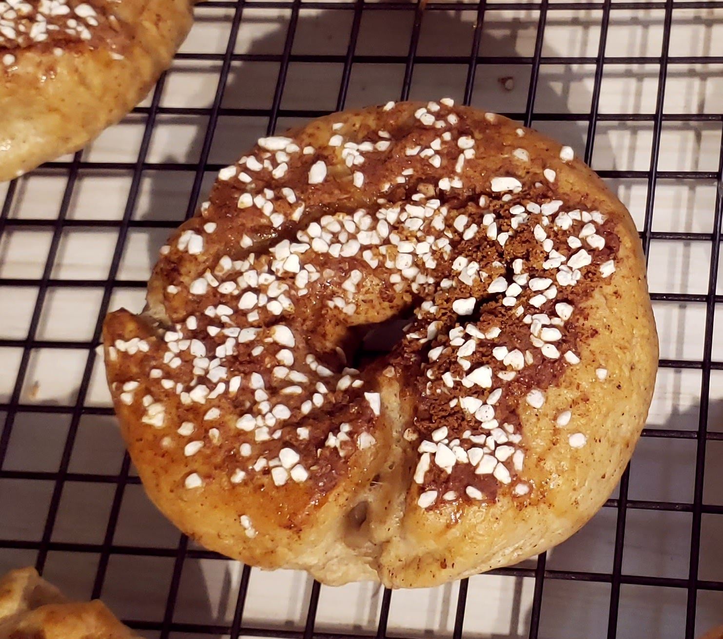 delicious sweet bagel