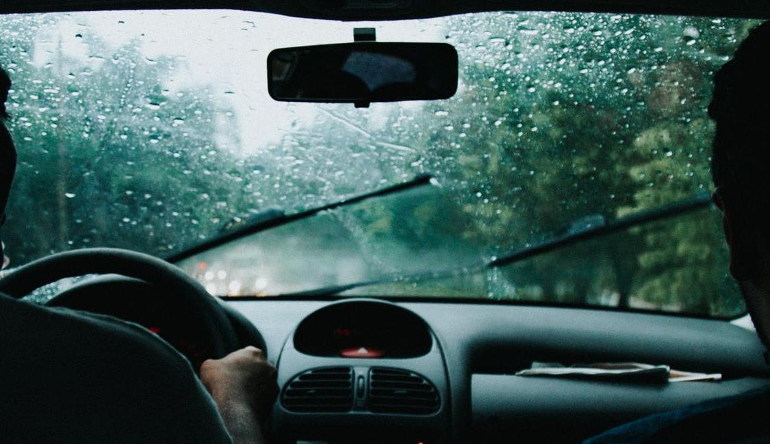 a rainy windshield