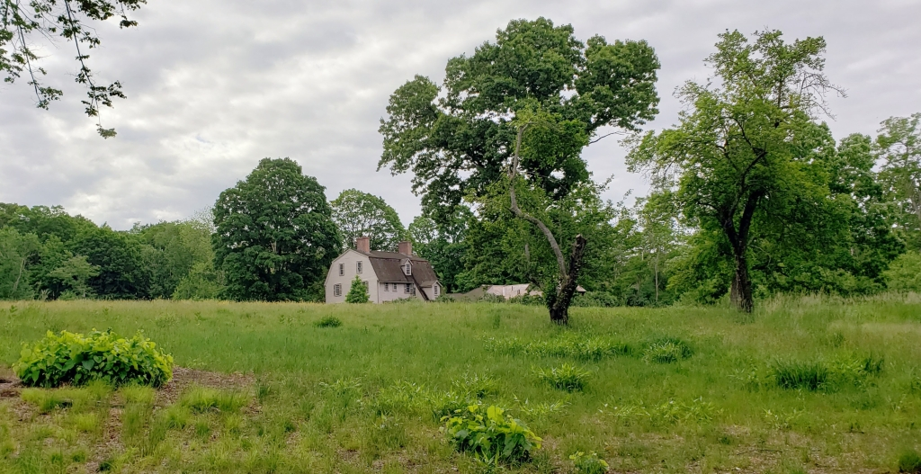 the old manse in the distance