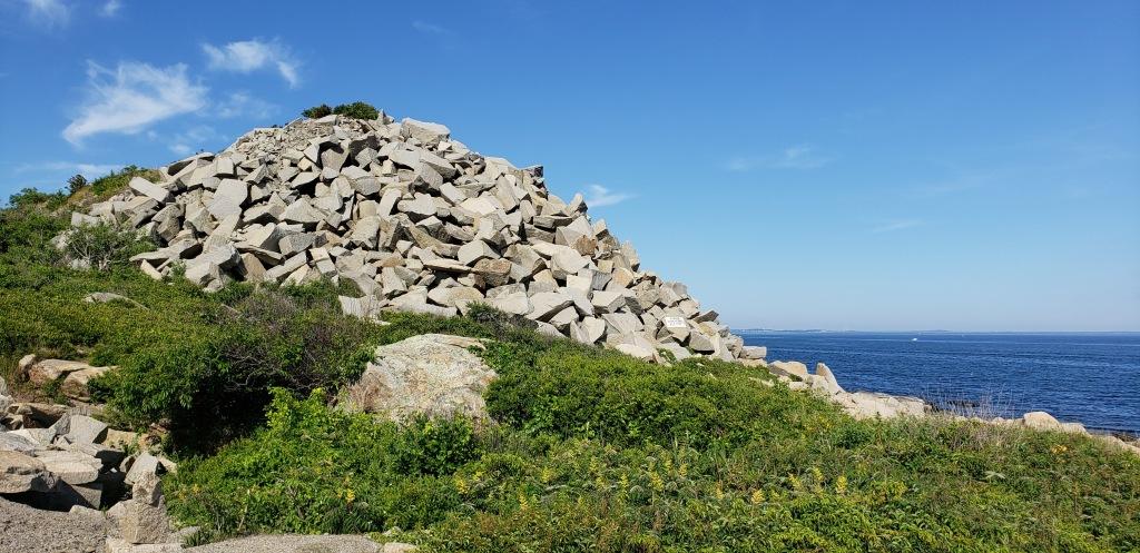 a pile of quarried granite