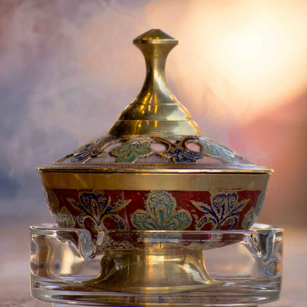 a brass incense burner