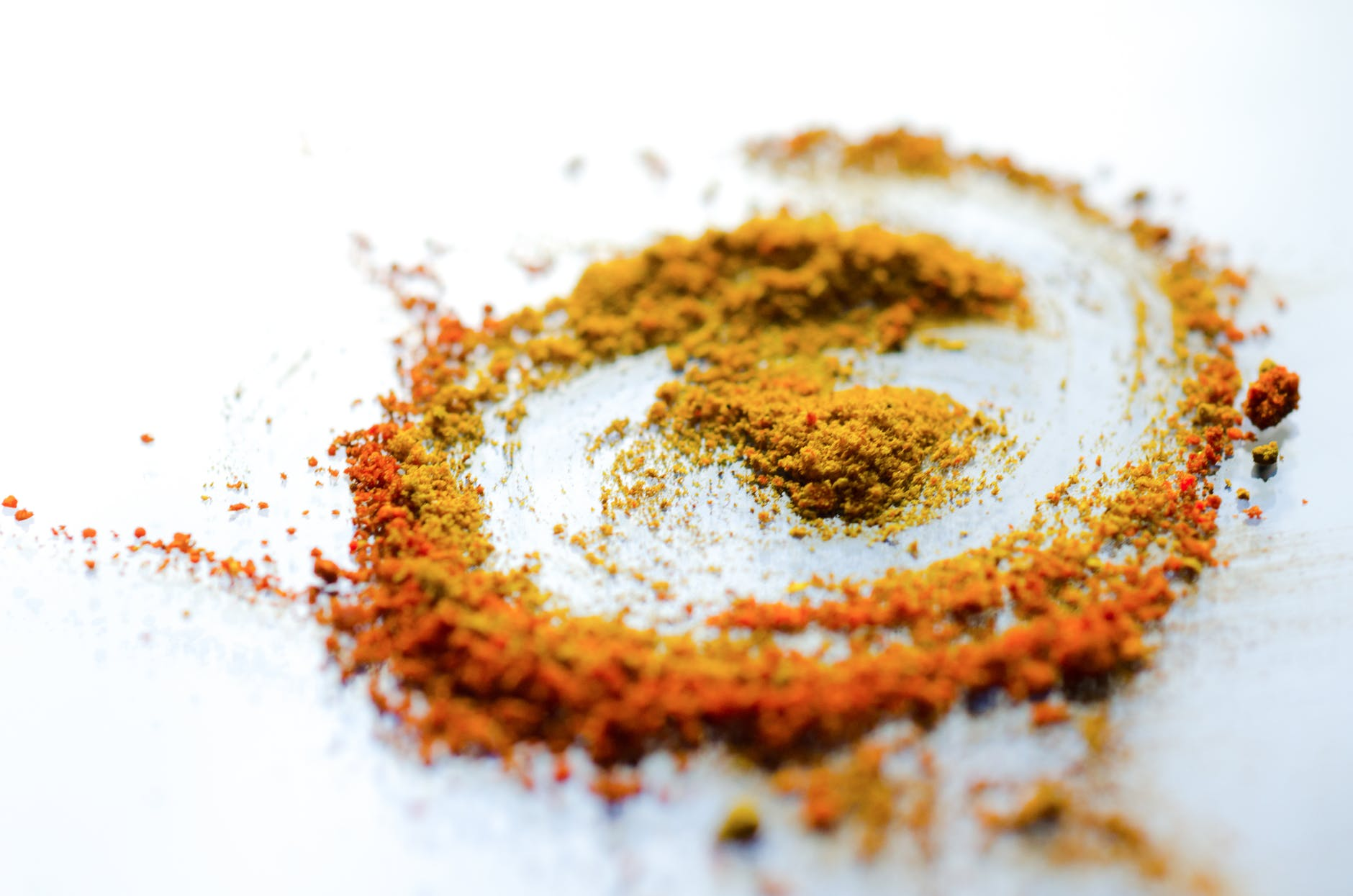 a swirl of spices