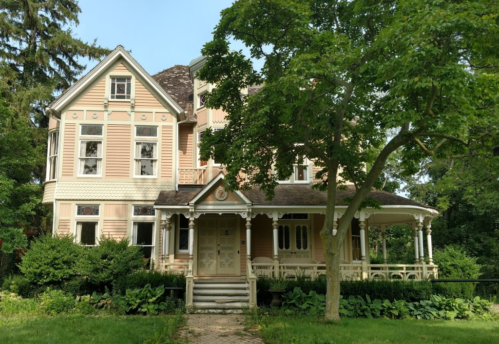 Beautiful victorian house with ghosts