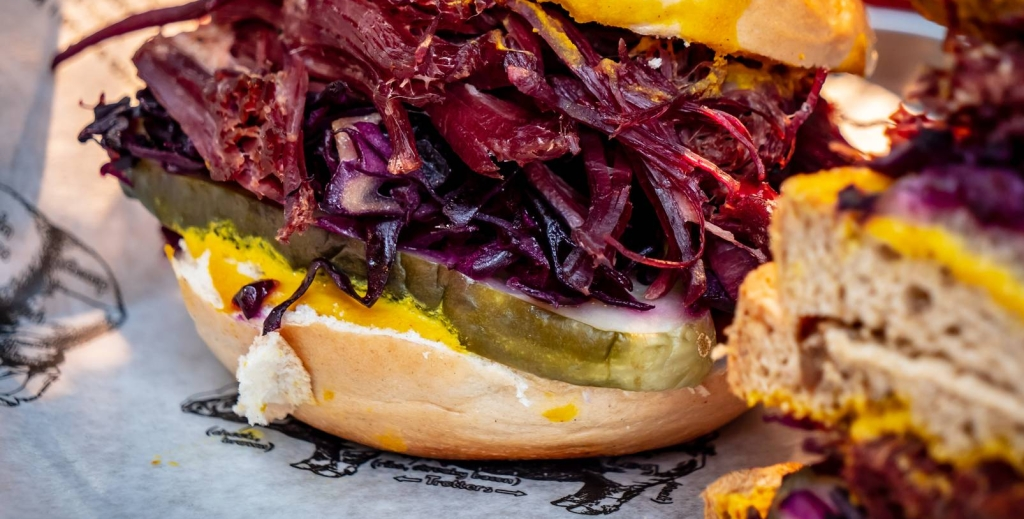 a hearty corned beef sandwich