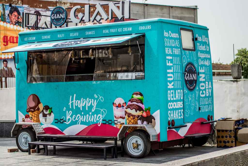 Fancy ice cream truck