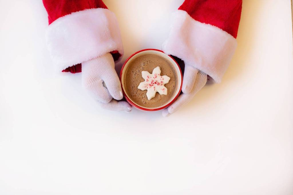 a cup of cocoa from Santa