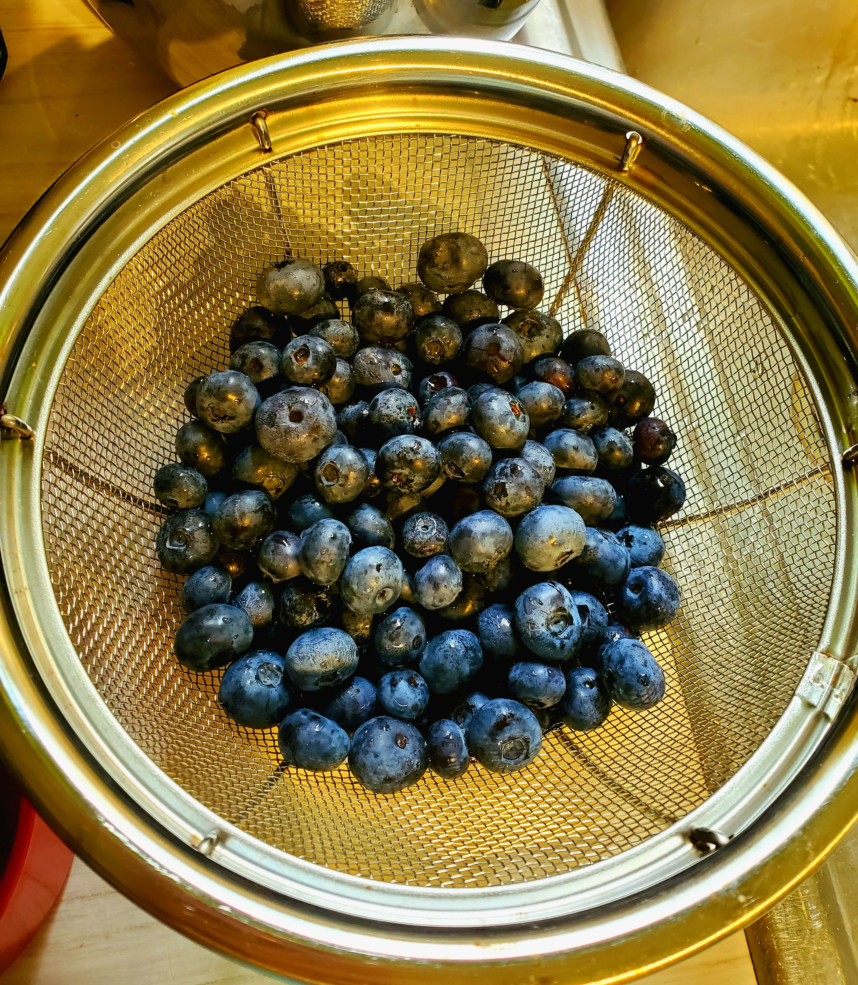 Berries in a colander