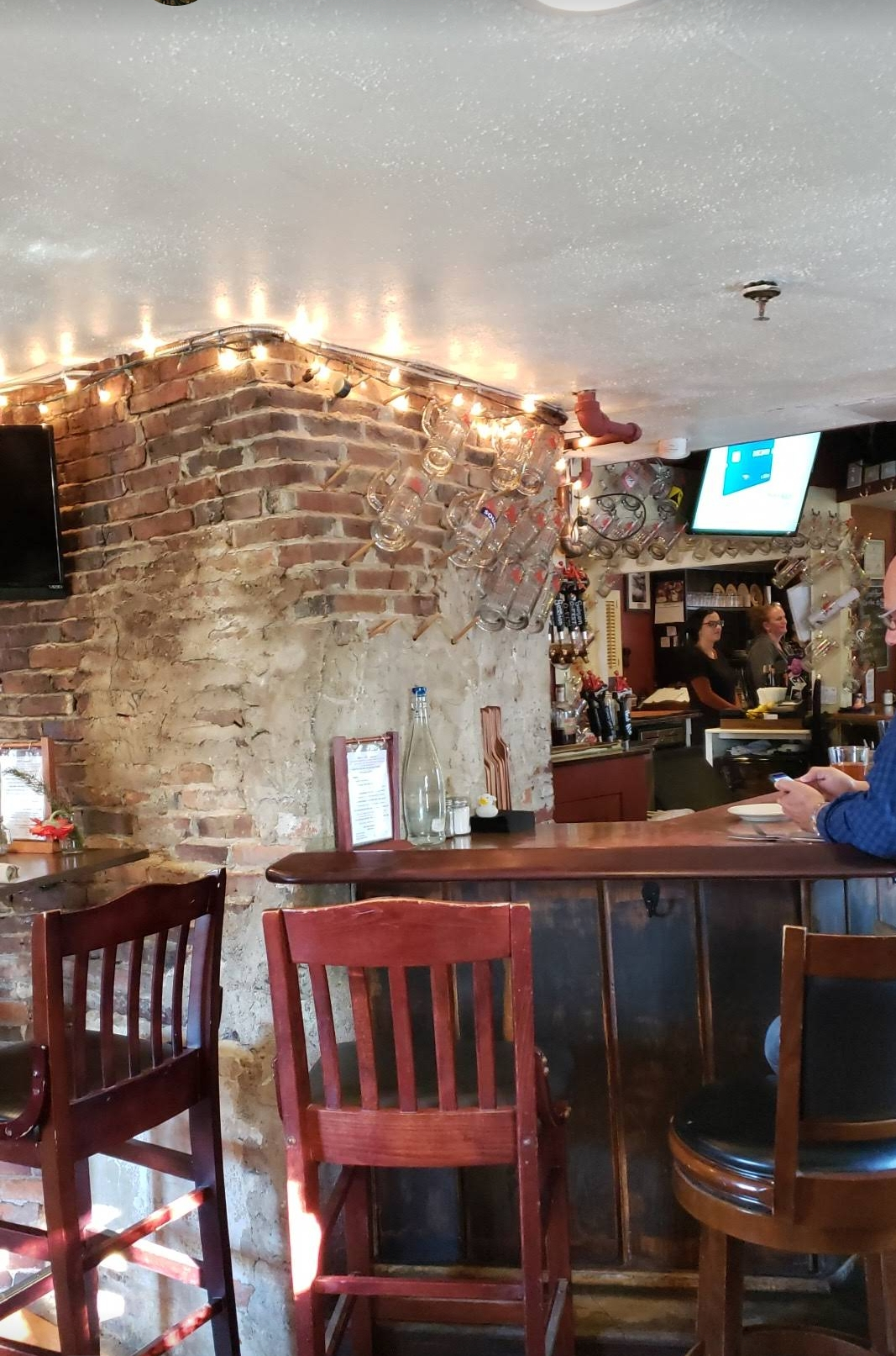View of the brick walled bar