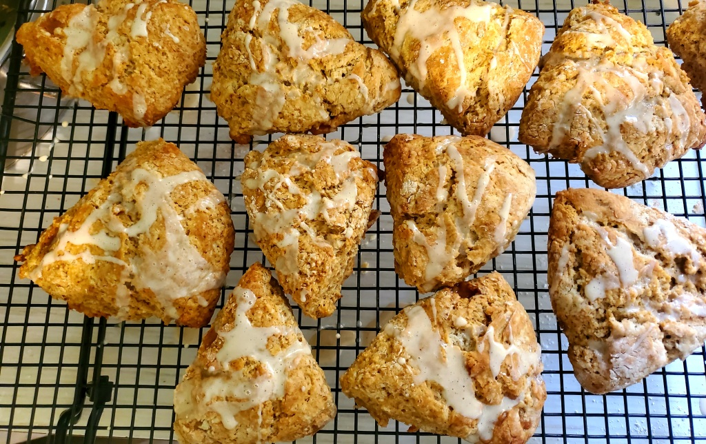 scones cooling on the rack