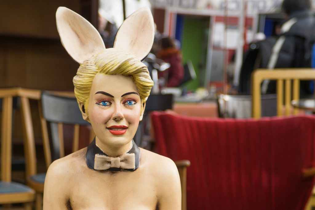 mannequin of playboy bunny