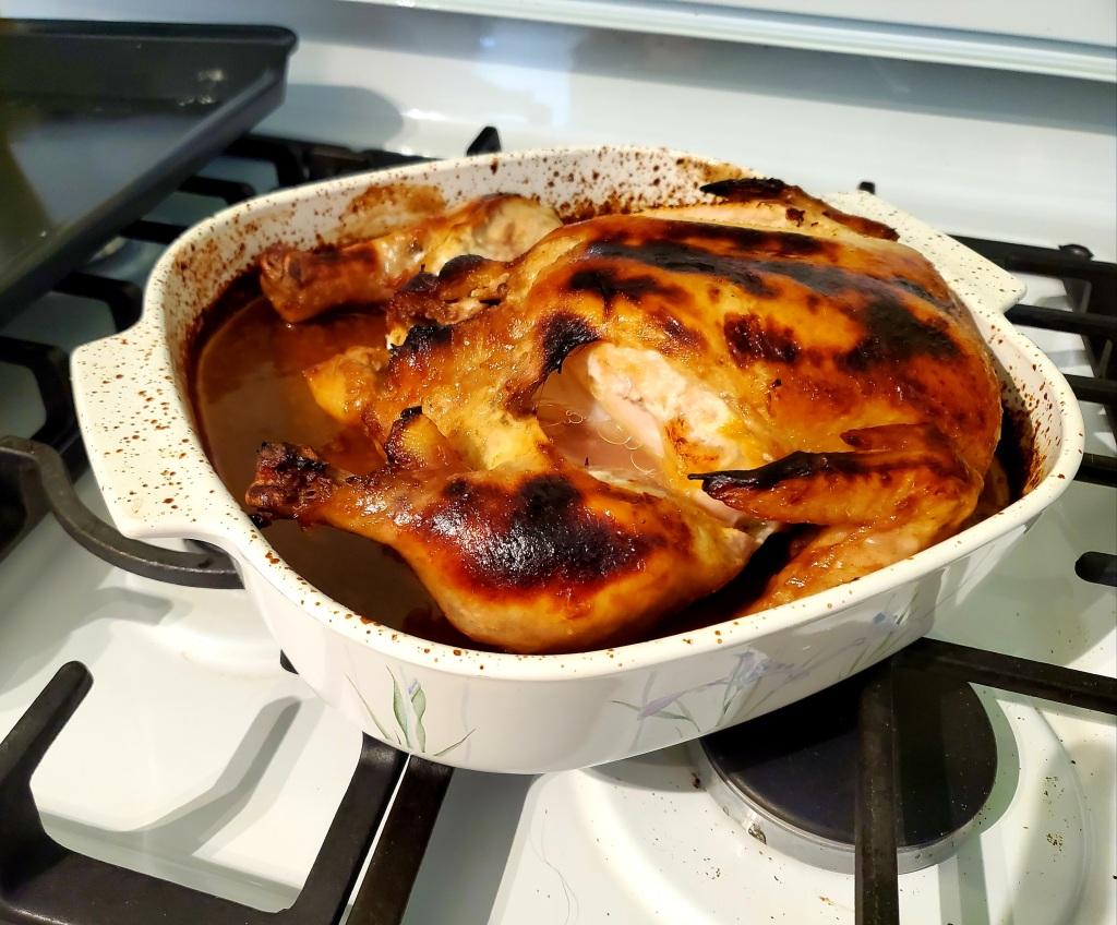 completely roasted chicken