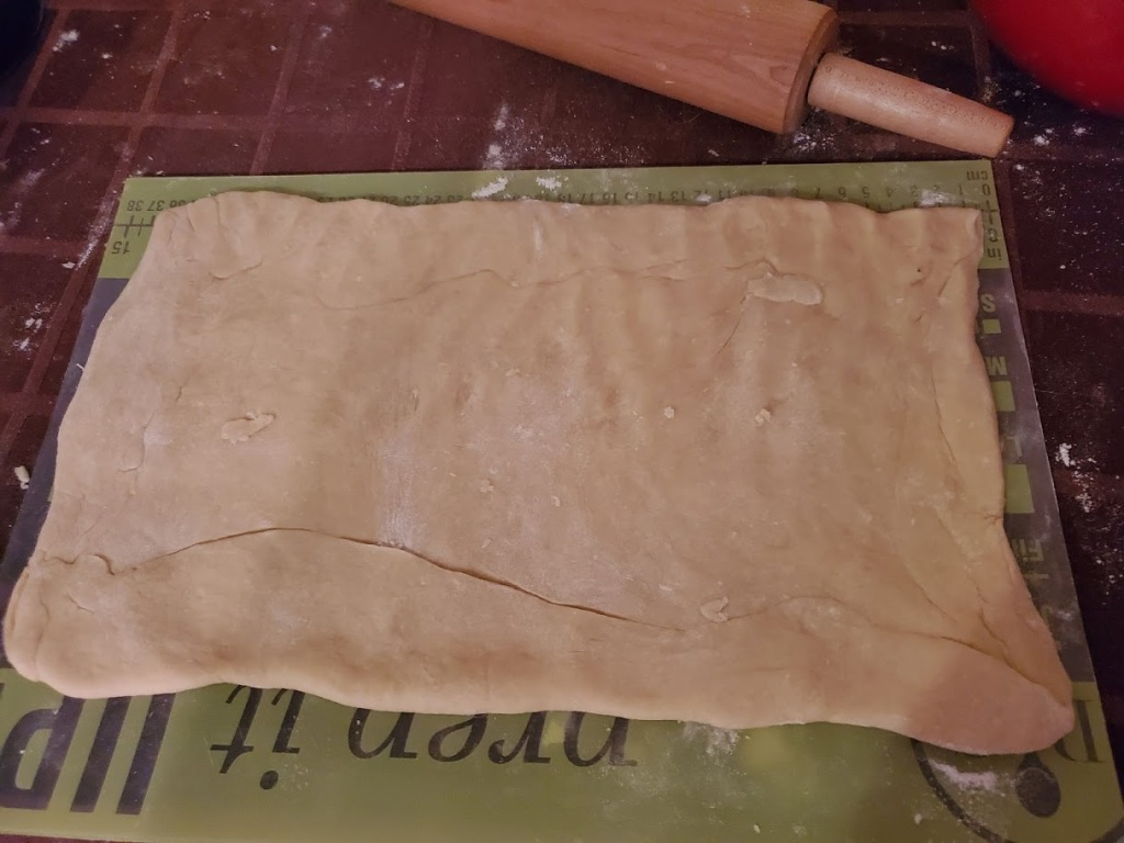 dough rolled into rectangle