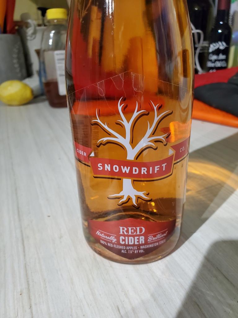 Bottle of Snowdrift Red Cider