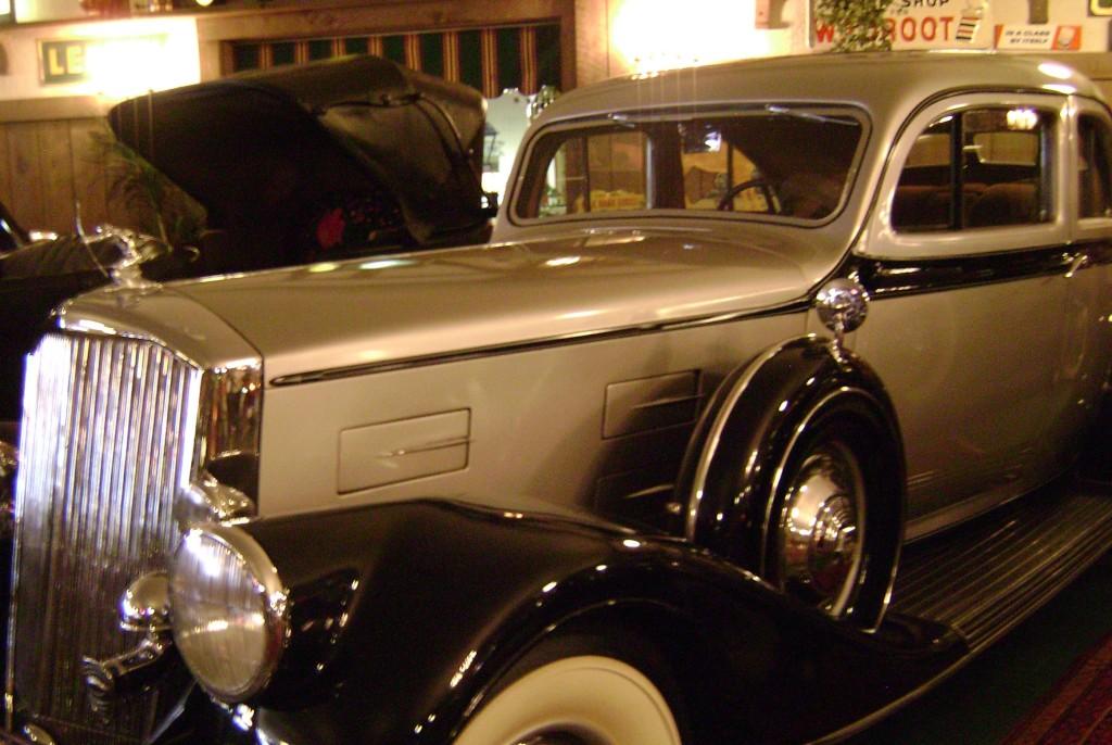 Antique mobster style car