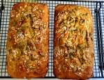 Two loaves of zucchini bread