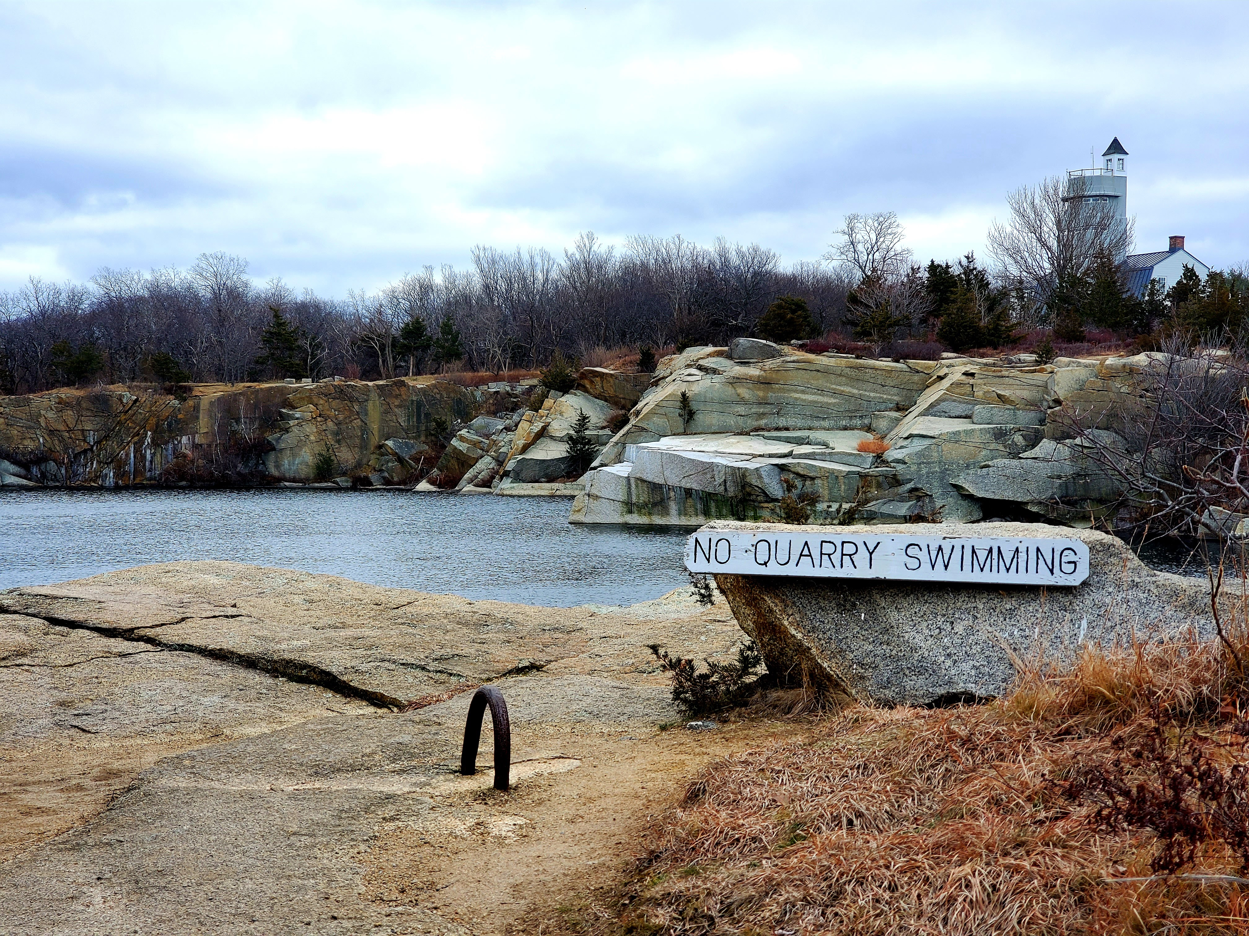 No Quarry Swimming sign