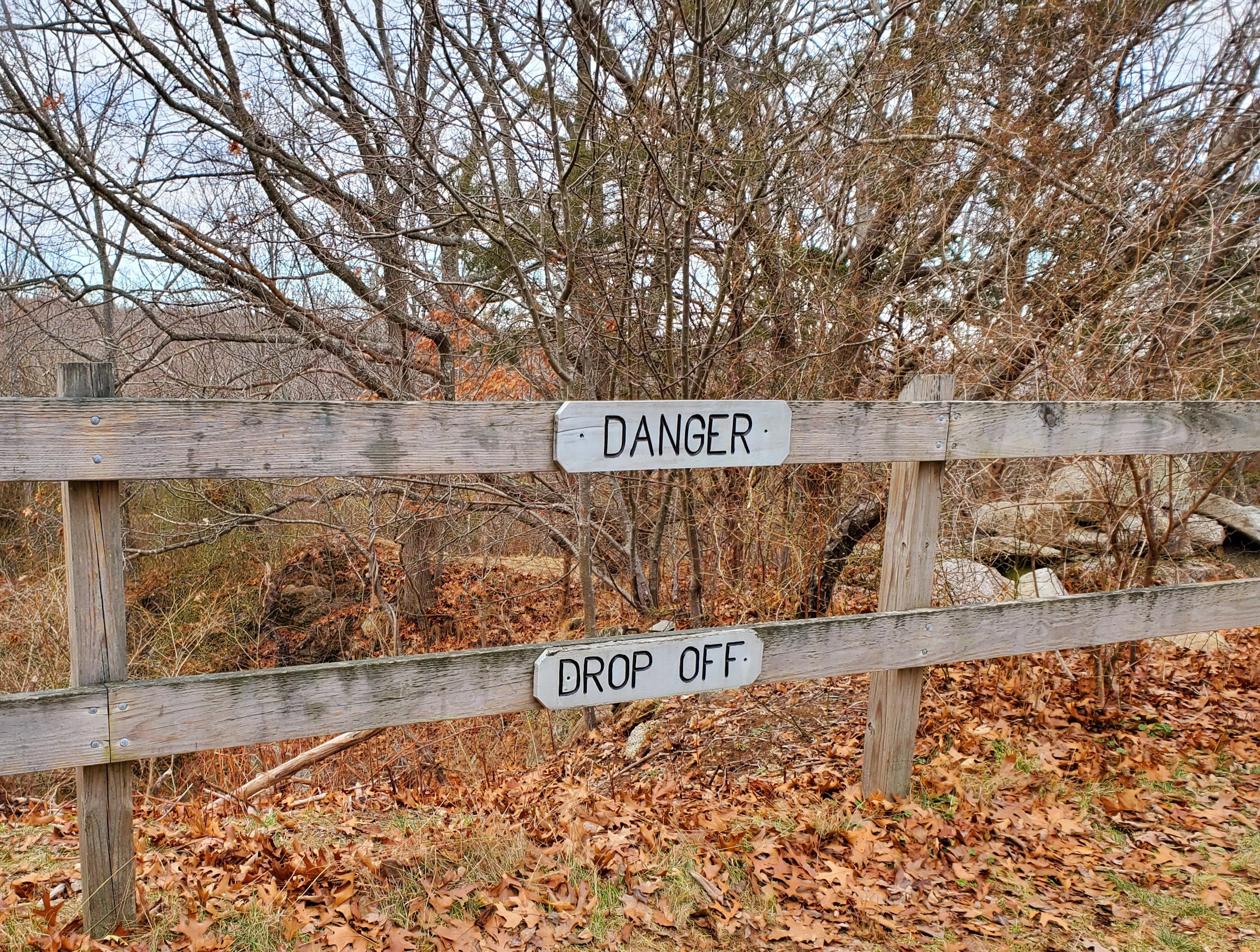 """Danger Drop Off"" Signage"