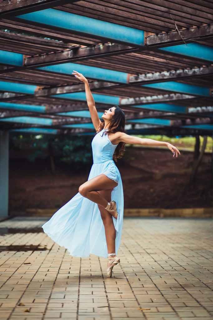 Woman dancing in a long skirt